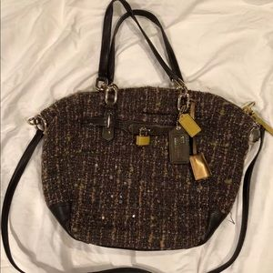 COACH CHELSEA EMERSON SATCHEL TWEED BOUCLE 17813